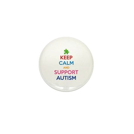 Keep Calm And Support Autism Mini Button (10 pack)