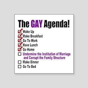 Gay Agenda Marriage Sticker