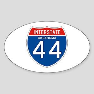 Interstate 44 - OK Oval Sticker