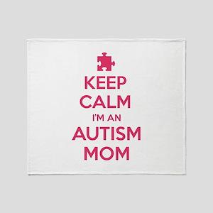 Keep Calm I'm An Autism Mom Stadium Blanket