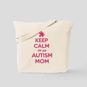 Keep Calm I'm An Autism Mom Tote Bag