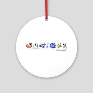 Fitness Addict Ornament (Round)