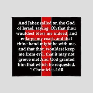 1 Chronicles 4:10 Throw Blanket