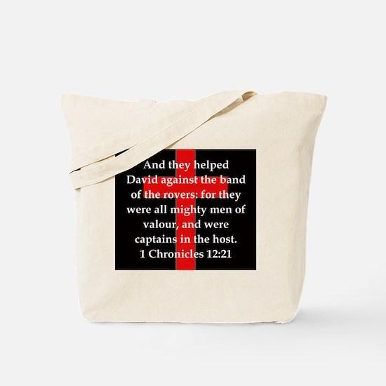 1 Chronicles 12:21 Tote Bag