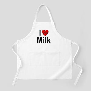 I Love Milk BBQ Apron