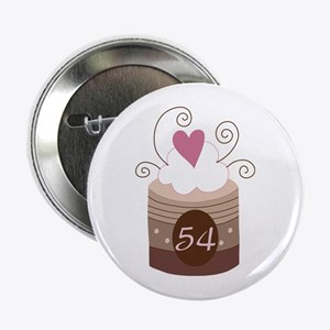 "54th Birthday Cupcake 2.25"" Button"