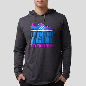 Run Like a Girl II Mens Hooded Shirt