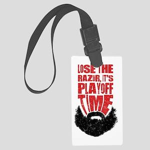 Playoff Beard, Hockey, Baseball Luggage Tag