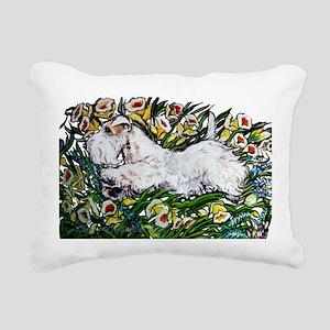 Sealyham in Daffodils Rectangular Canvas Pillow