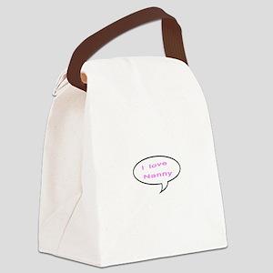 I Love Nanny Canvas Lunch Bag