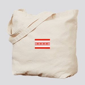 Chicago Municipal Flag in Red Tote Bag