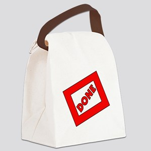 2013 Done Graduation Canvas Lunch Bag