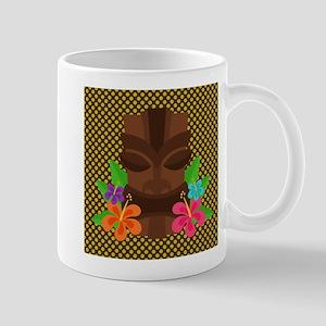 Tiki Mask on Green and Brown Mug