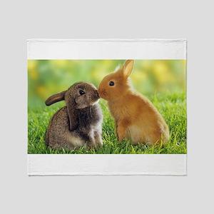 Love Bunnies Throw Blanket