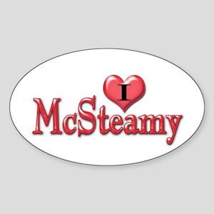 I heart McSteamy Oval Sticker