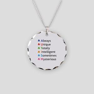 AUTISM Necklace Circle Charm