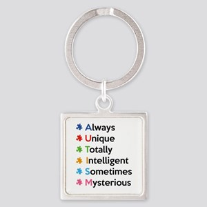 AUTISM Square Keychain