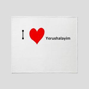 I heart Yerushalayim Throw Blanket