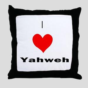 I heart Yahweh Throw Pillow