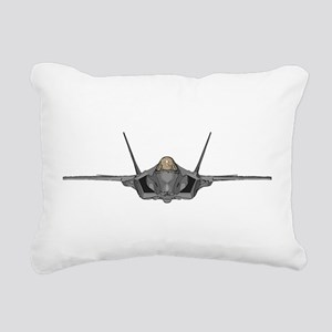 F-35A front Rectangular Canvas Pillow