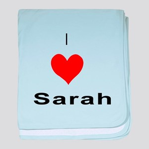 I heart Sarah baby blanket