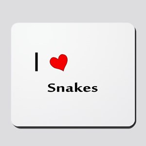 I heart my Snakes Mousepad