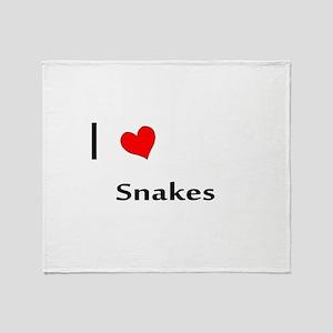 I heart my Snakes Throw Blanket
