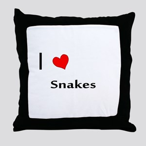 I heart my Snakes Throw Pillow