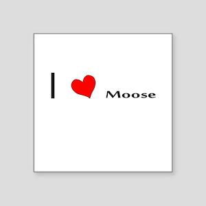 I heart Moose Sticker