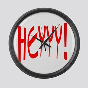 HEYYY /FONZIE Large Wall Clock
