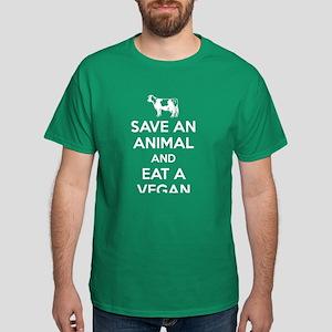 Save an Animal Eat a Vegan Dark T-Shirt