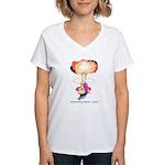 Slime Mushroom Cloud Women's V-Neck T-Shirt