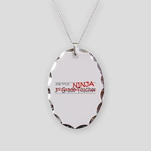 Job Ninja 3rd Grade Necklace Oval Charm
