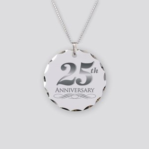 25 Year Anniversary Necklace Circle Charm