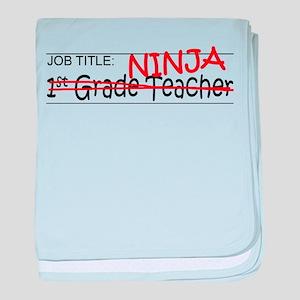 Job Ninja 1st Grade baby blanket