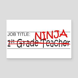 Job Ninja 1st Grade Rectangle Car Magnet