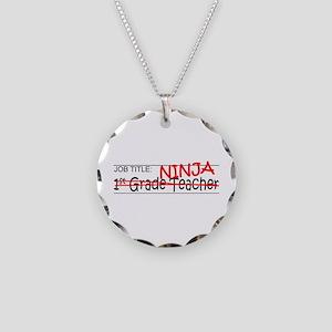 Job Ninja 1st Grade Necklace Circle Charm