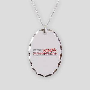 Job Ninja 1st Grade Necklace Oval Charm
