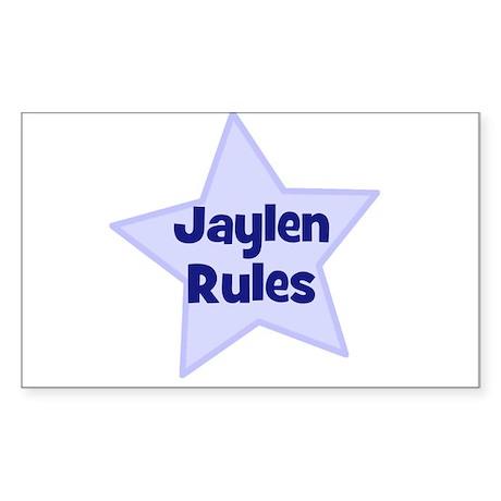Jaylen Rules Rectangle Sticker