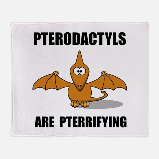 Pterodactyls Pterrifying Throw Blanket