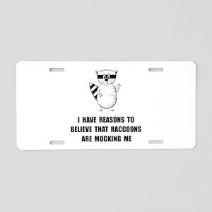 Raccoons Mock Aluminum License Plate