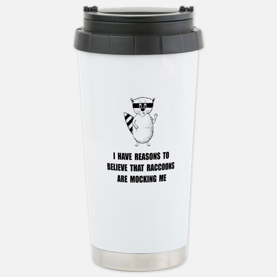 Raccoons Mock Travel Mug