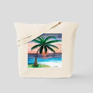 Sunset Palm Tree Tote Bag