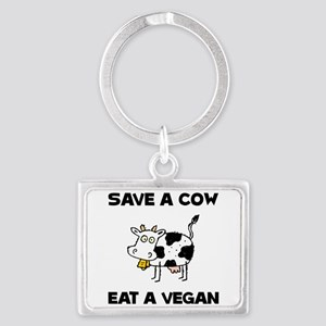 Save Cow Vegan Keychains