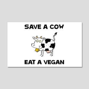 Save Cow Vegan Wall Decal