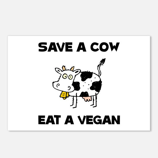 Save Cow Vegan Postcards (Package of 8)