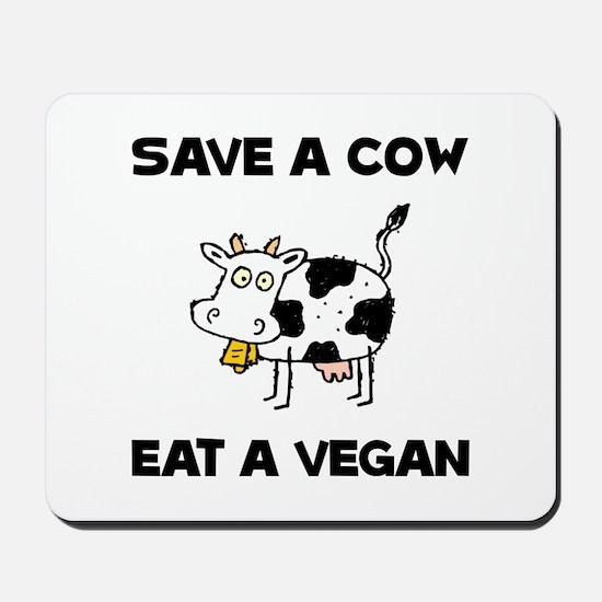 Save Cow Vegan Mousepad