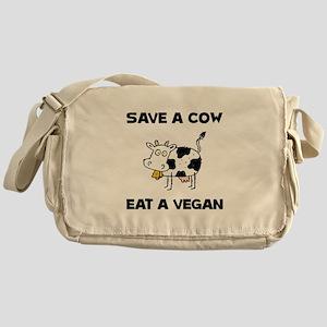 Save Cow Vegan Messenger Bag