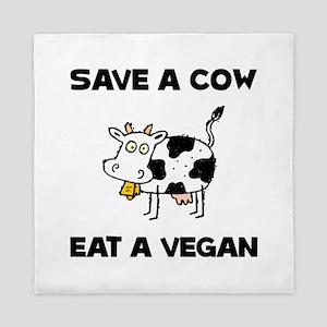 Save Cow Vegan Queen Duvet