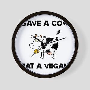 Save Cow Vegan Wall Clock